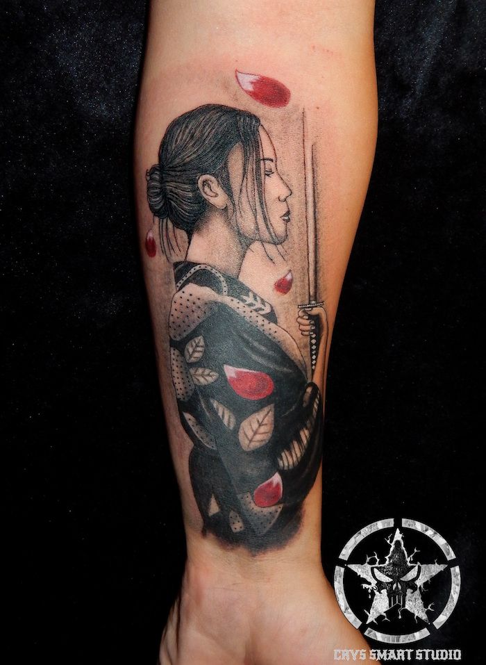 1001 Idees Gheișe Tattoos Japanese Geisha Tattoo Samurai