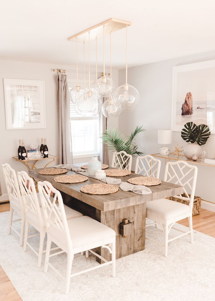 West Elm Emmerson Reclaimed Wood Dining Table Review with Ballard Design Dayna Chairs  #WestElm #MyWestElm #EmmersonTable #homeDecor #DiningRoomTable #RusticTable #BallardDesigns #daynasidechairs #daynachairs