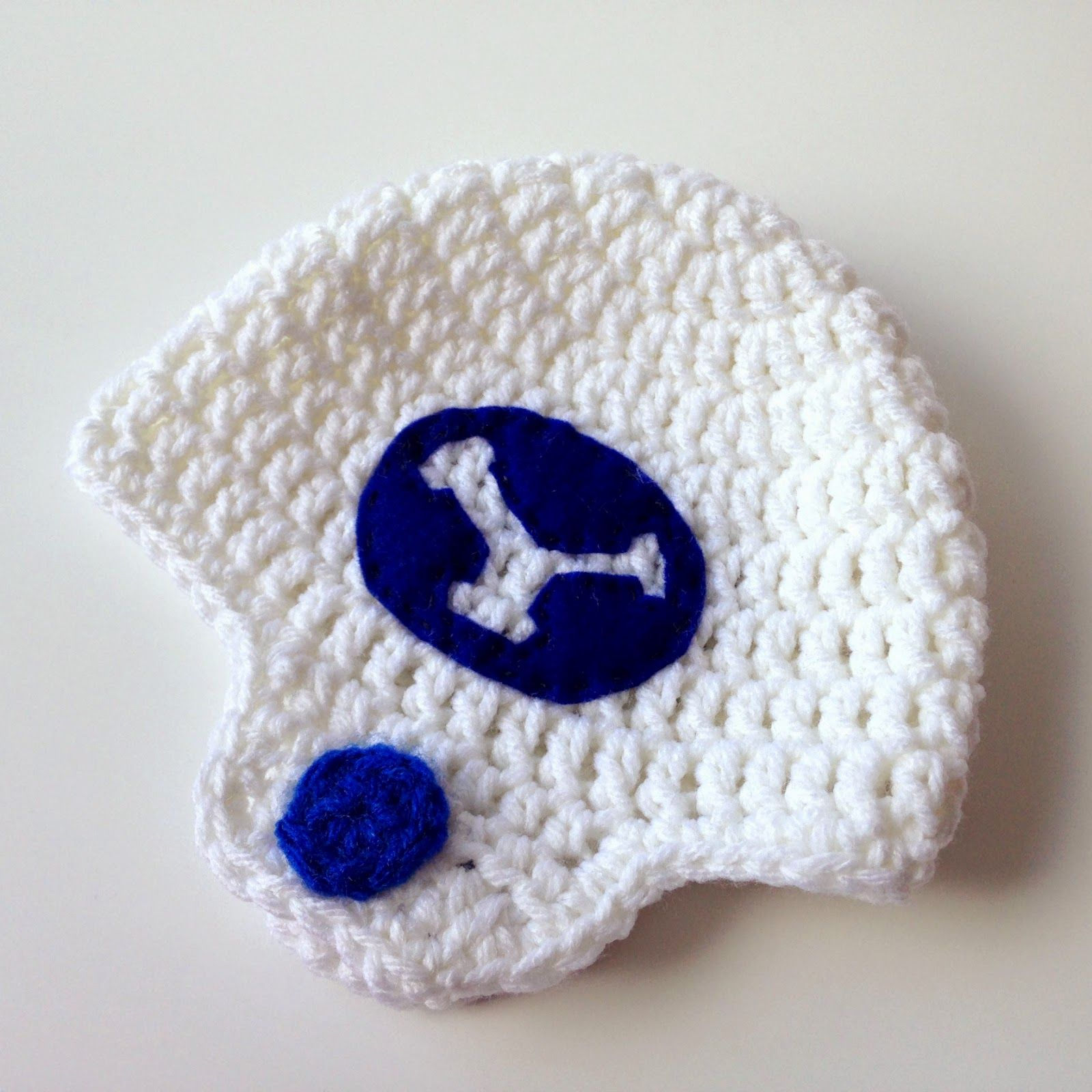 Five little monsters crocheted football helmet hats free pattern