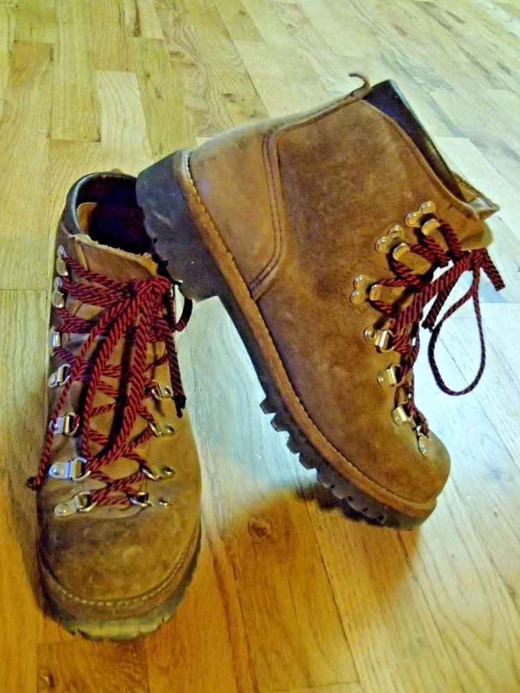 vtg 70\'s VASQUE gretchen leather hiking climbing mountaineering ...