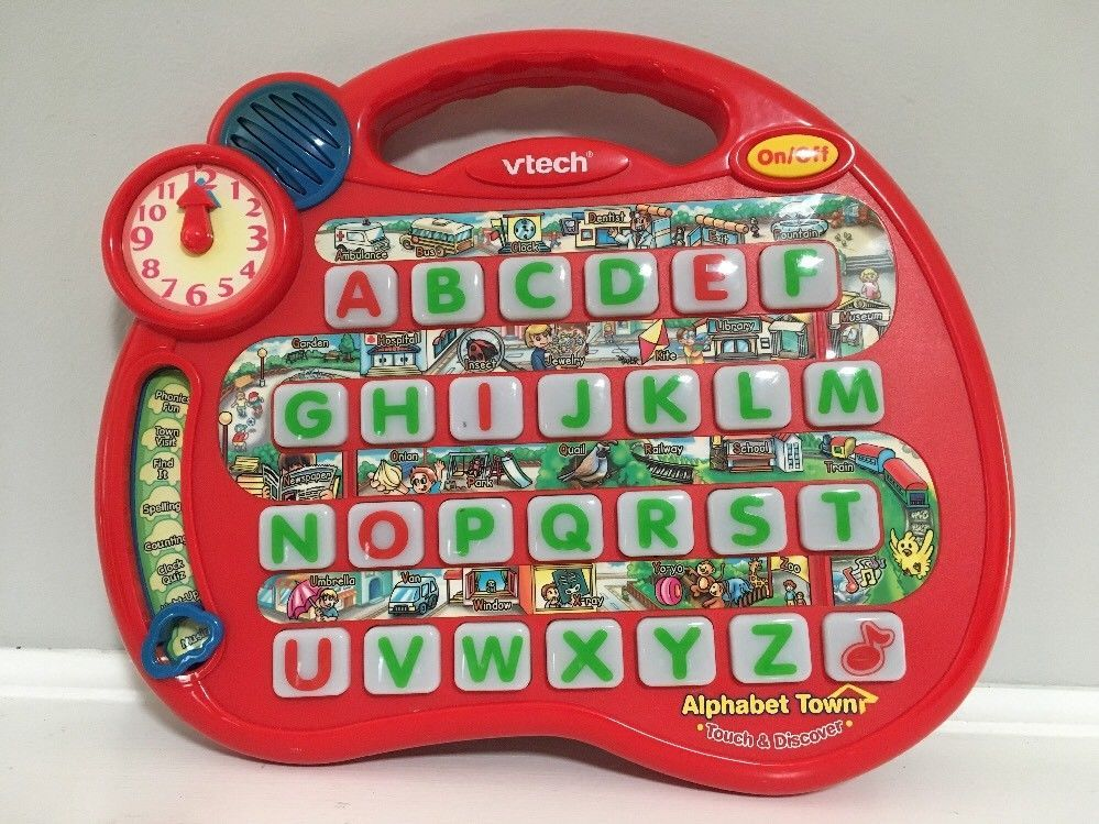 Vtech Alphabet Town Touch Discover Red Abc Letter Phonics Tested