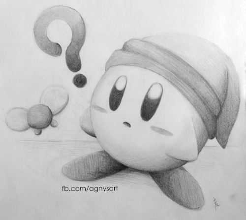 KirbyLink!! #Fanart #Character #Games #Kirby #Graphite #Pencils