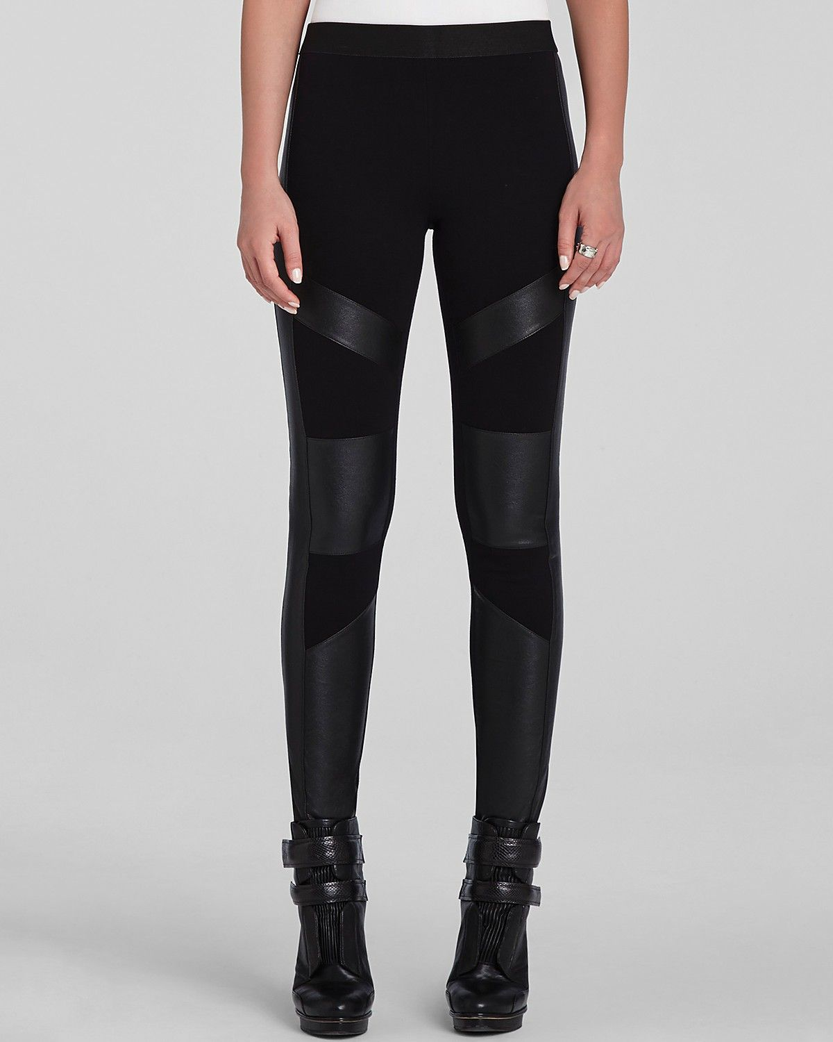 207fecd6b316bc BCBGMAXAZRIA Leggings - Bayle Faux Leather Panel | Bloomingdale's ...