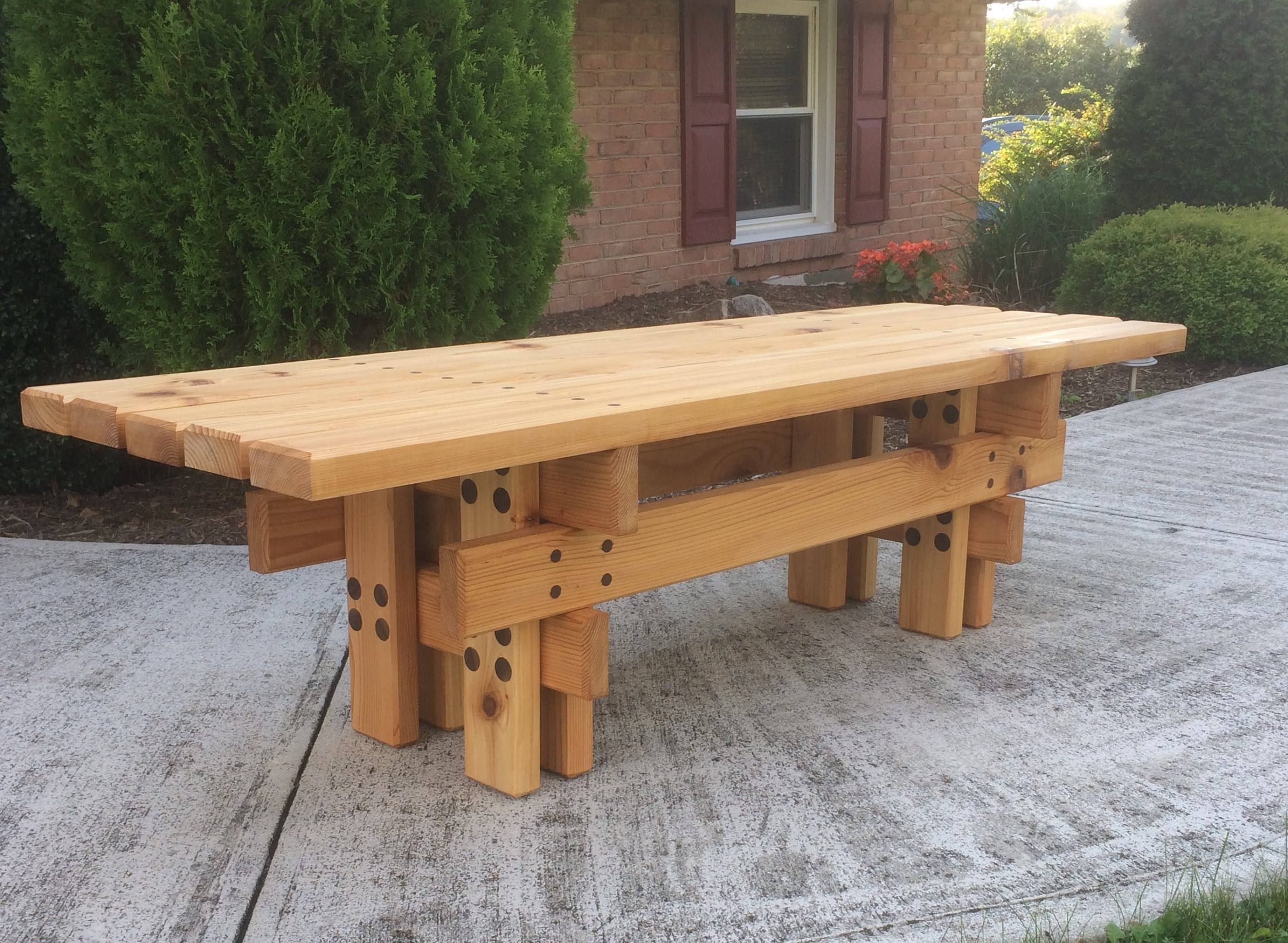 Awe Inspiring Japanese Style Cedar Garden Bench In 2019 Garden Bench Ocoug Best Dining Table And Chair Ideas Images Ocougorg