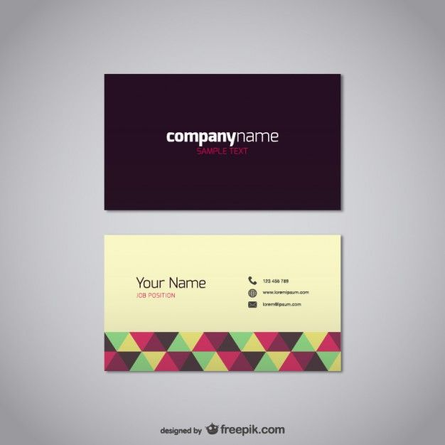 Business Card Vector Free Template