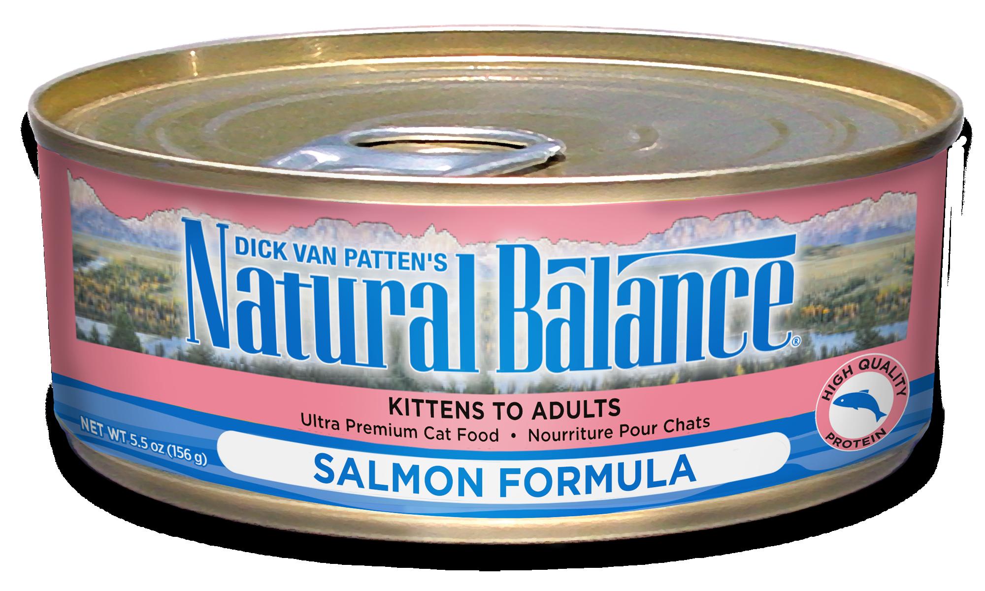 Natural Balance Salmon Formula Wet Cat Food, 5.5 oz., Case