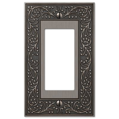 Amerelle Wall Plates Pleasing Amerelle Wall Plate 43Ran Vine 1Gang Antique Nickel Decorator Review