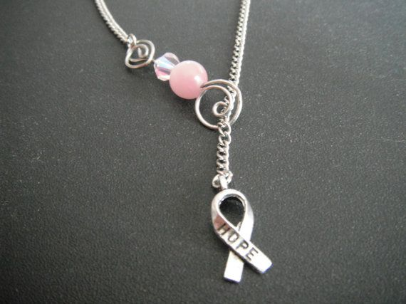 Breast Cancer Charm Necklace by JCVision on Etsy, $15.00