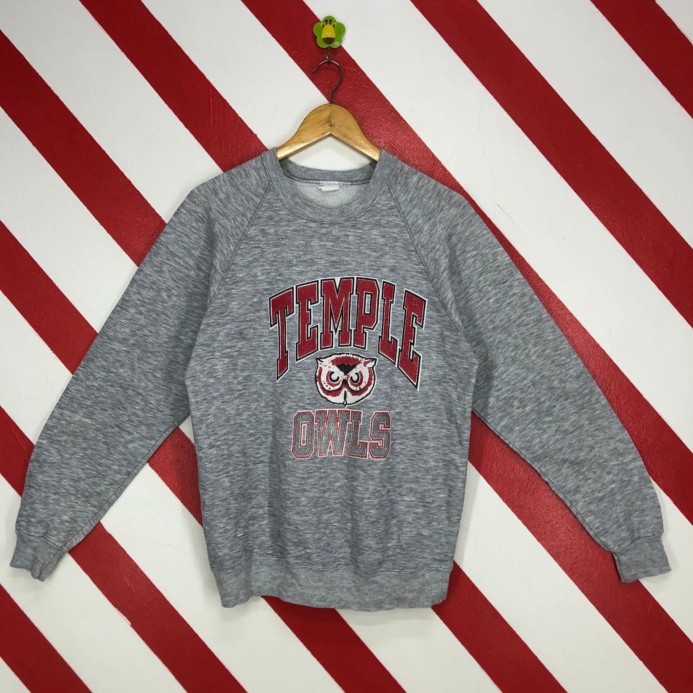 Vintage 90s Temple Owls Sweatshirt Temple Owls Crewneck Etsy Owl Sweatshirt Sweatshirts Long Sleeve Tshirt Men [ 3000 x 3000 Pixel ]