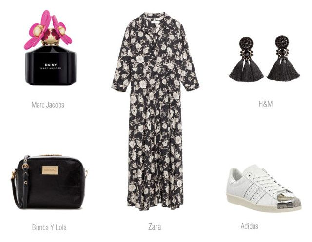 spring dress 2 by ireneconcello on Polyvore featuring adidas, H&M, Marc Jacobs and Bandolera