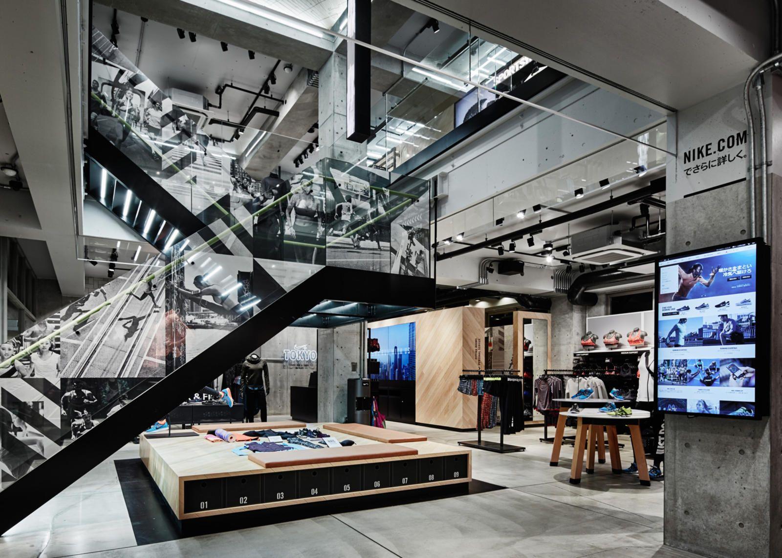 Criticar petróleo crudo medios de comunicación  Nike Brings First Running Concept Store to Tokyo   Concept store, Shoe store  design, Nike retail