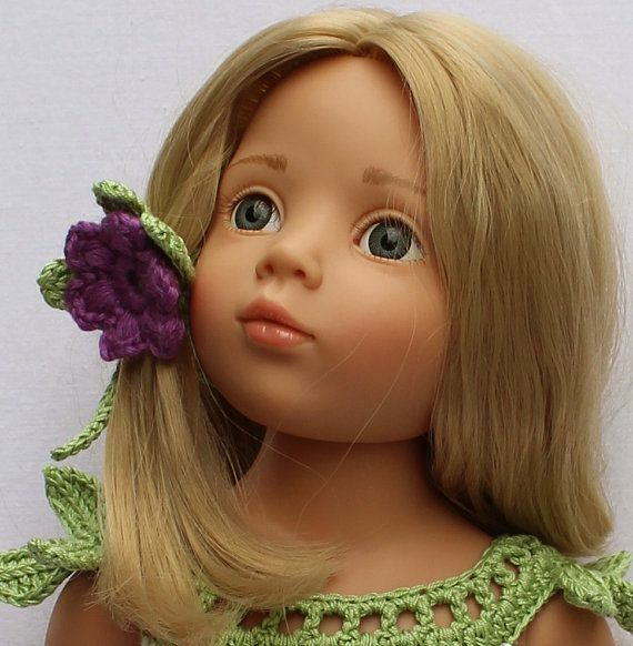 TULIP Crochet 18 inch doll DRESS (#060)