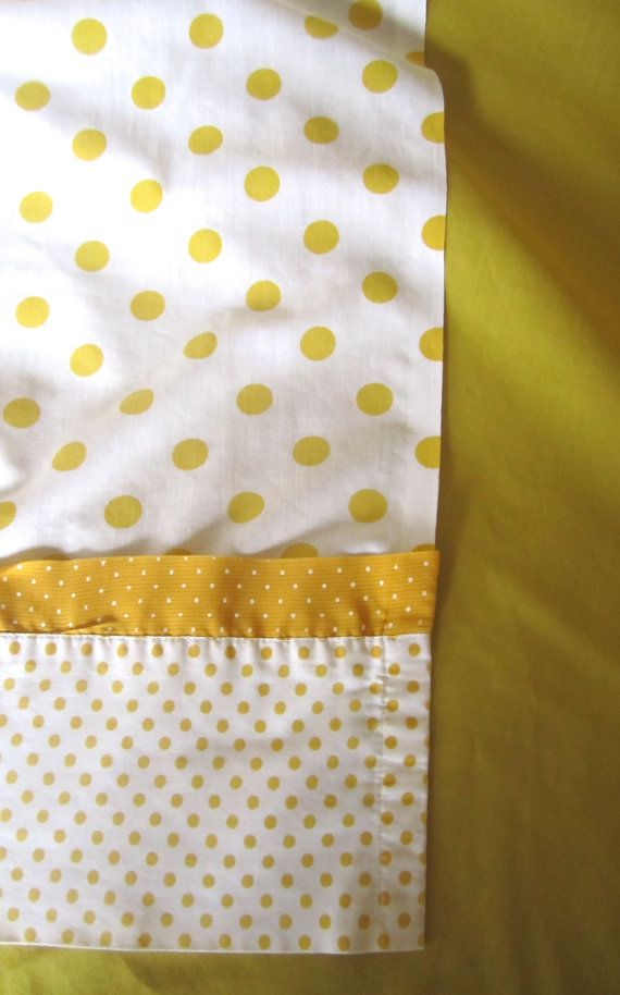 Yellow Gold Flat Sheet 96 x 80 FUll size BED by dhedwards on Etsy
