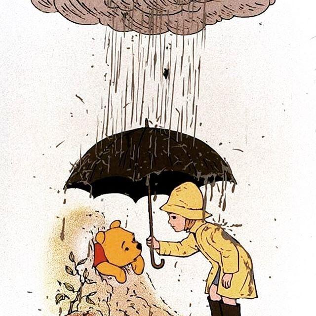 Winnie The Pooh Rain: Tut Tut, It Looks Like Rain! Guess Who Just Posted A
