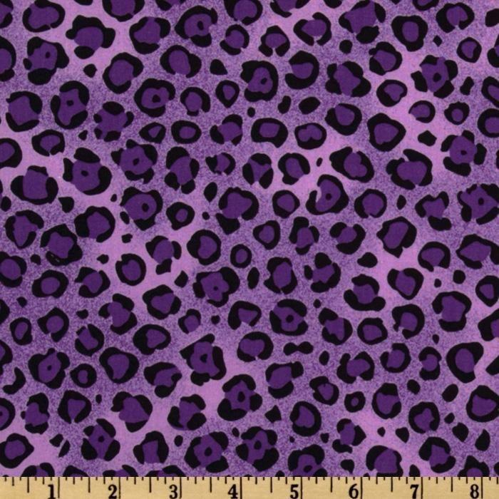 Animal print leopard purple black rockin 39 fabrics telas - Purple cheetah print background ...