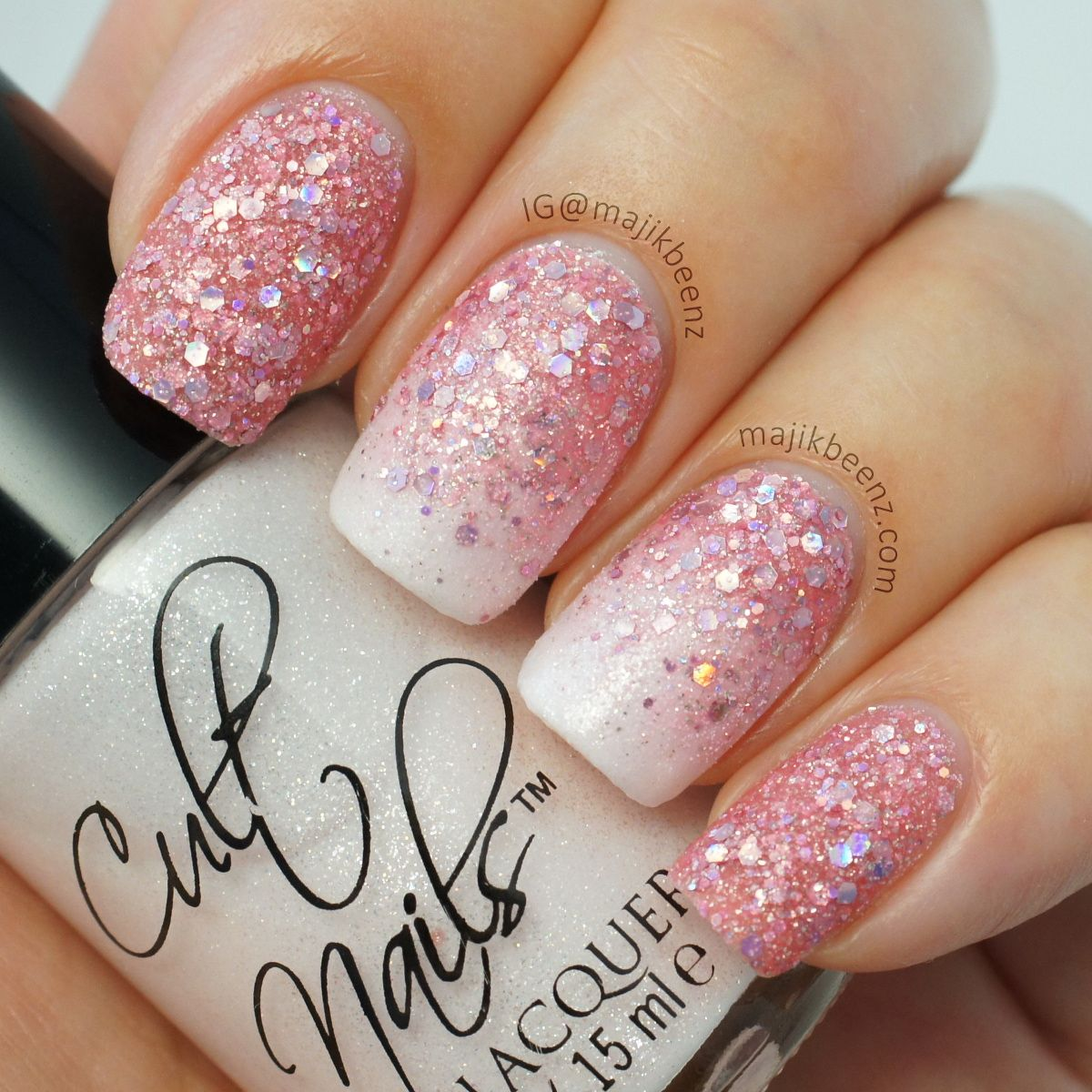 Ombre french glitter manicure | Beauty - nails | Pinterest | Ombre ...