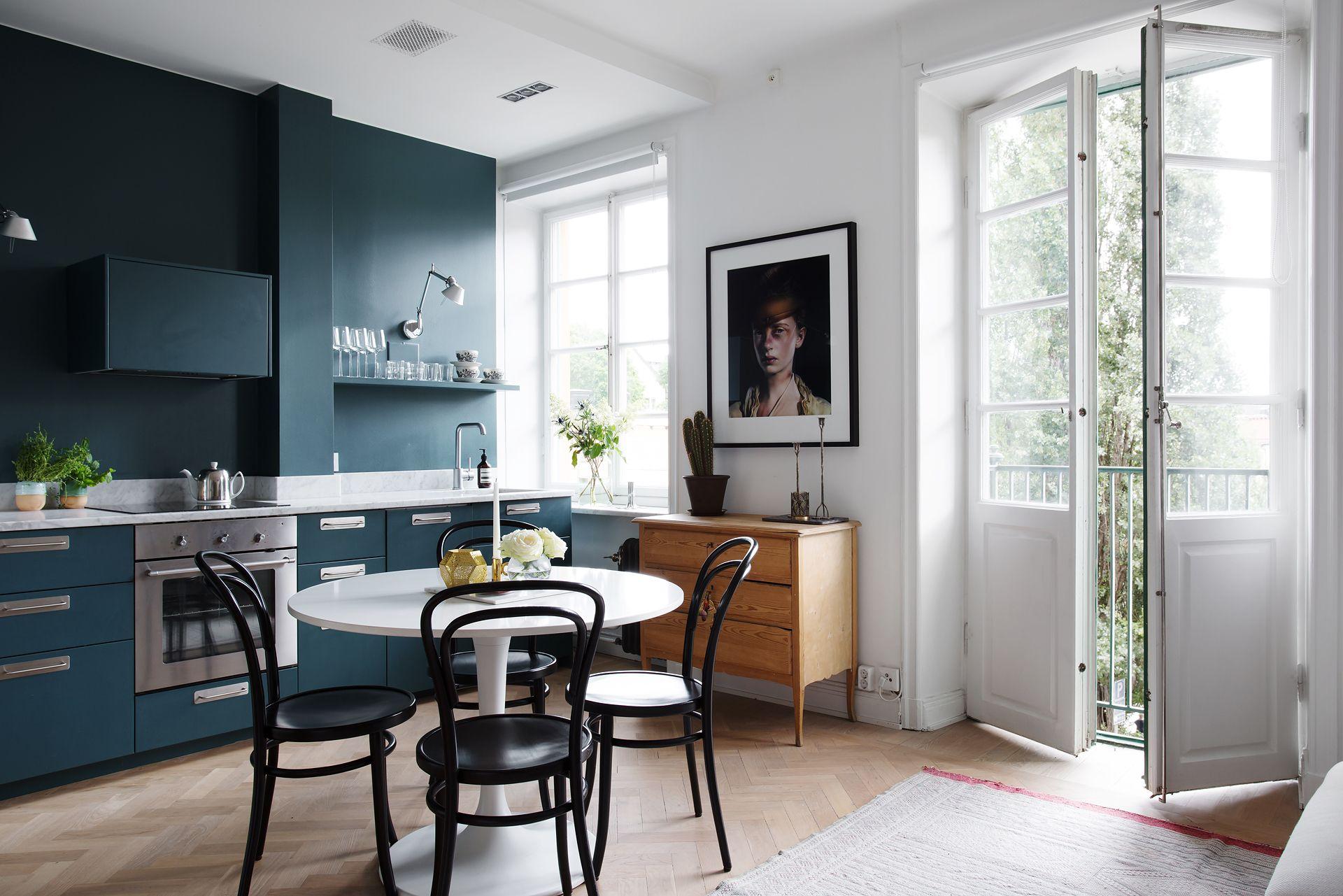 Pintar la pared de la cocina del mismo color que los muebles | Lo ...