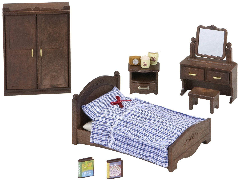 Sylvanian Families SemiDouble Bed Master bedroom set