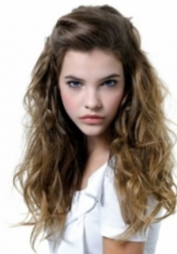 Curly hair with pulled back bangs | Long Hair Styles | Pinterest ...