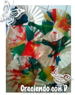 Creciendo con Darío: Un poco de arte y ciencia: pintar con el spinner