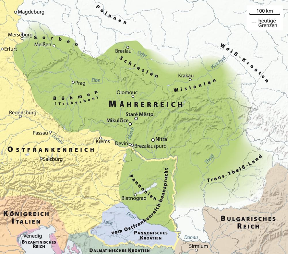 Karte Mahrerreich Svatopluk I Mahrerreich Wikipedia In 2020 Byzantinisches Reich Schlesien Kroaten
