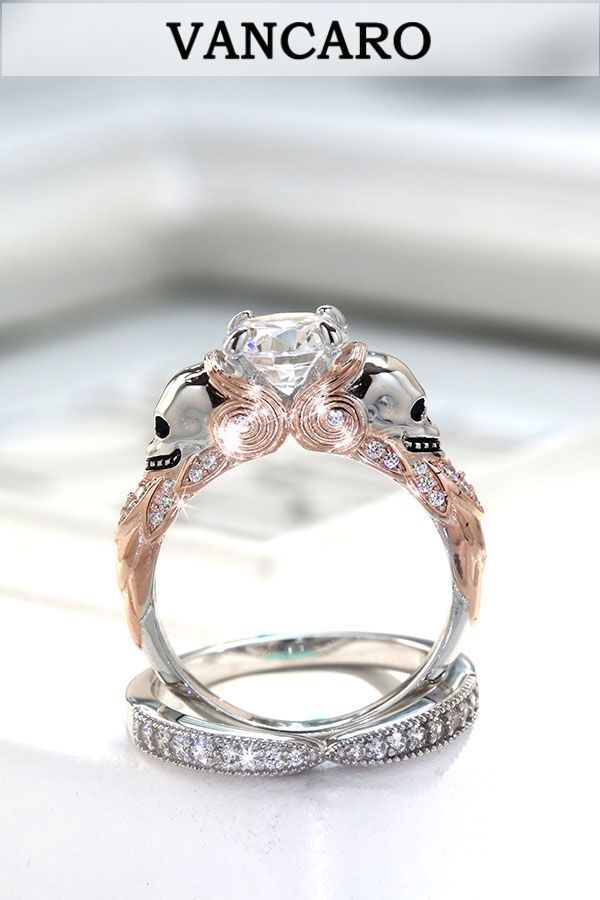 Discover VANCARO cool skull jewelry in unique style. Designer skull rings, skull necklaces and more. VANCARO skull rings including skull engagement rings, skull wedding rings, skull rings for women and more choices.