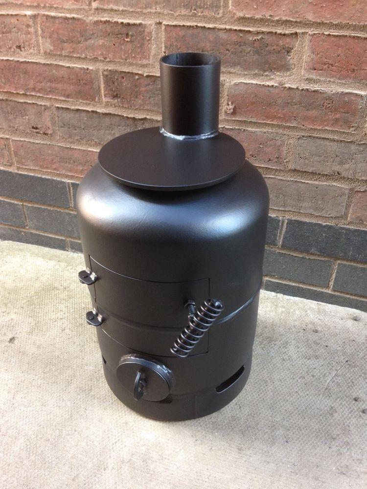 7 kg gas bottle wood burner / log burner / boat stove / vw camper ...