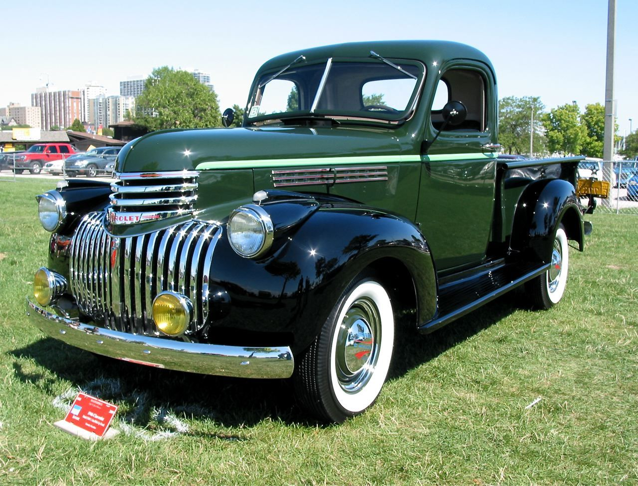 46 Chevrolet truck. great color combo