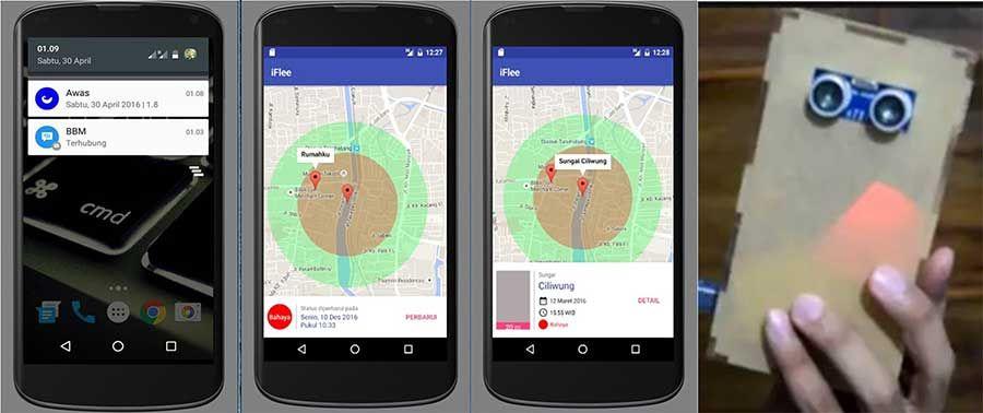 Iflee Aplikasi Android Siaga Banjir Berbasis Iot Iot Android Tablet