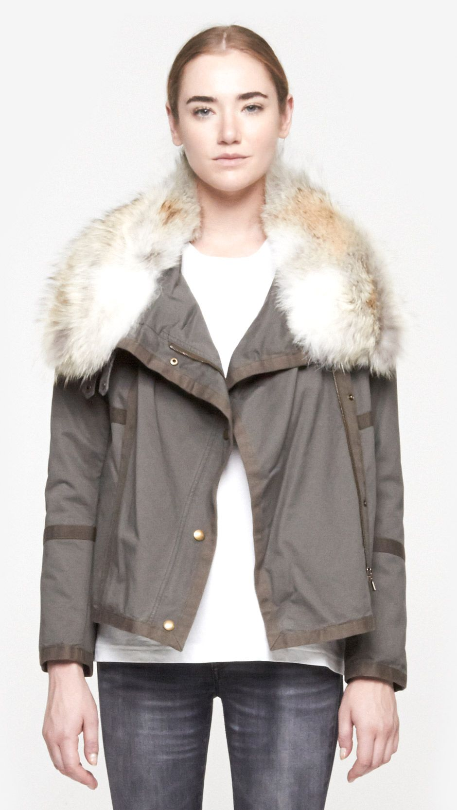 Short Cotton Parka by Yves Salomon | YVES SALOMON | Pinterest ...