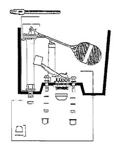 Gerber toilet parts diagram for model 28-190 and 28-192