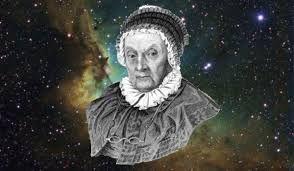 Caroline Herschel (1750-1848).  fue una astrónoma alemana que vivió también en Inglaterra. Trabajó con su hermano Sir William Herschel en la elaboración de sus telescopios y en sus observaciones. Wikipedia