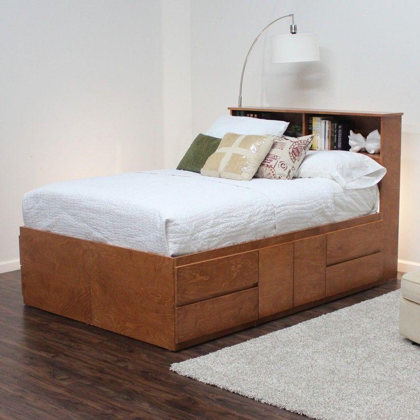 Full Storage Bed With 8 Drawers 4 Doors Headboard Storage