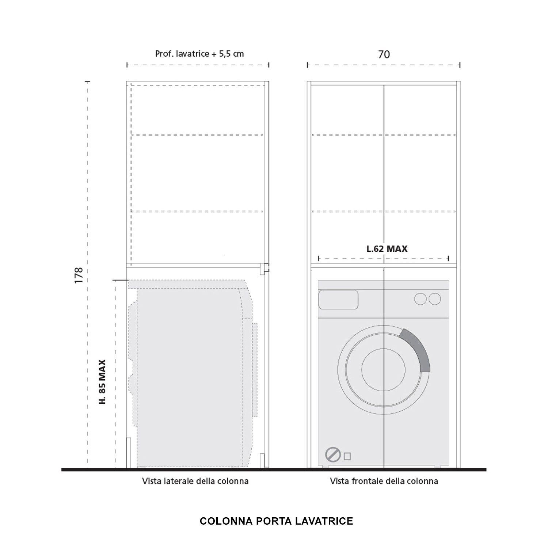 Lavatrice Ed Asciugatrice Sovrapposte colonna lavanderia blizzard | lavatrice, lavanderia nascosta