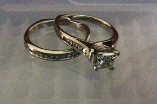 102ct princess cut engagementwedding set used engagement rings sell engagement rings - Preowned Wedding Rings