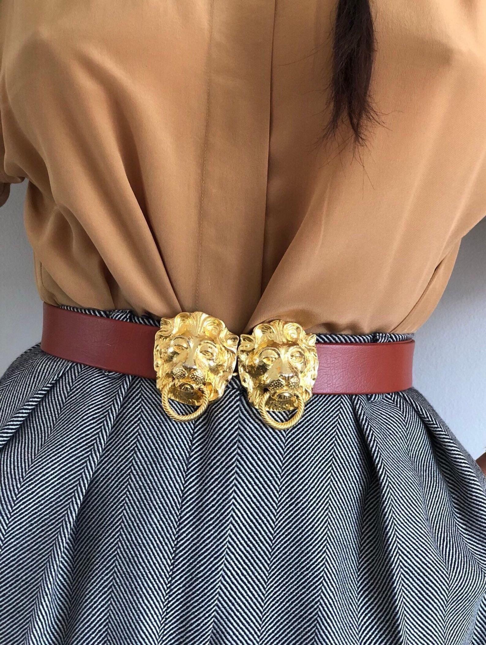 70s Mimi Di Niscemi Adjustable Leather Belt Vintage Gold Etsy Belt Fashion Blouse Vintage
