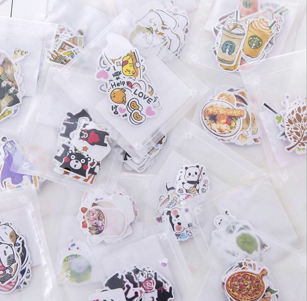 Excited to share this item from my shop: Set of 14 packs - Kawaii Sticker Flake Bundle