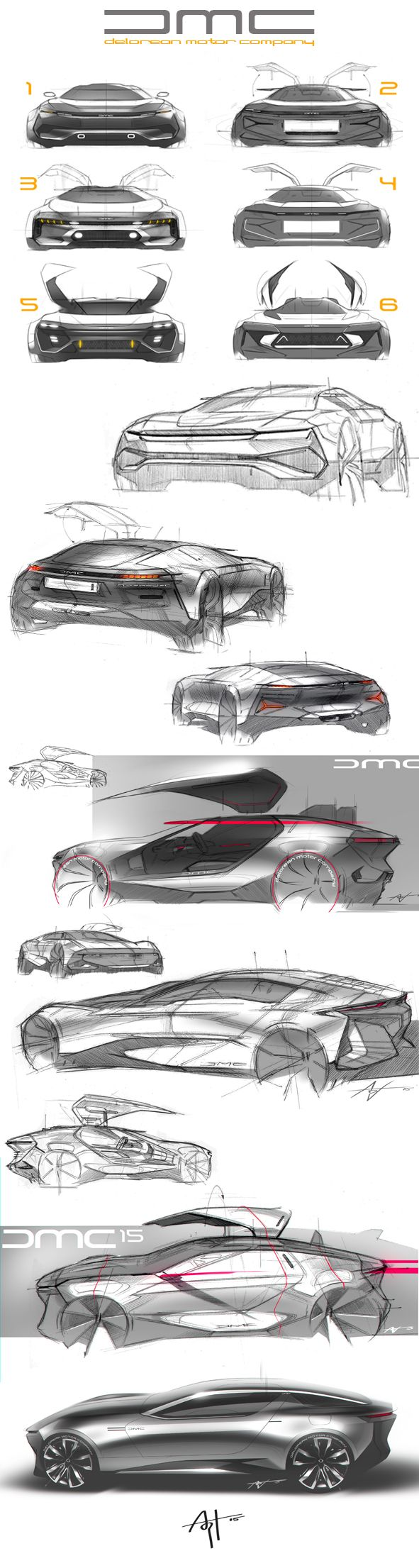 Some randon DeLorean sketches.. on Behance | Auto Design | Pinterest ...