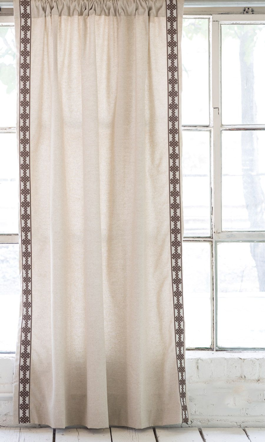 New Ready Made Drapery Panels By Lacefield Designs Danish Linen With Amalfi Tape Www
