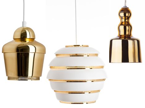 Artek Gold Pendant Lighting