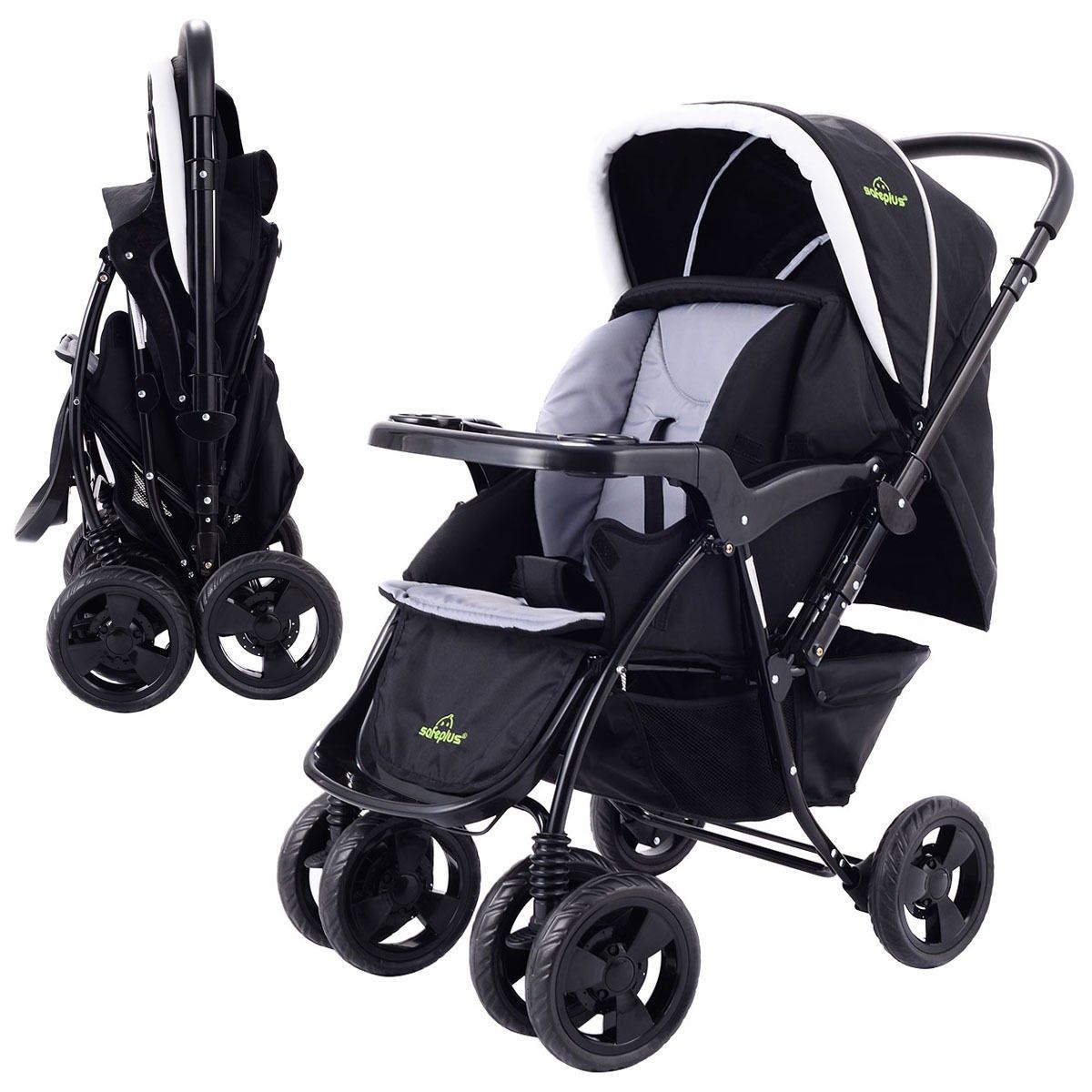 New Two Way Foldable Baby Kids Travel Stroller Newborn
