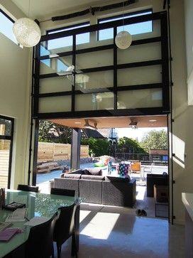 Vertical Opening Door Contemporary Garage Doors Modern Garage Doors Glass Garage Door