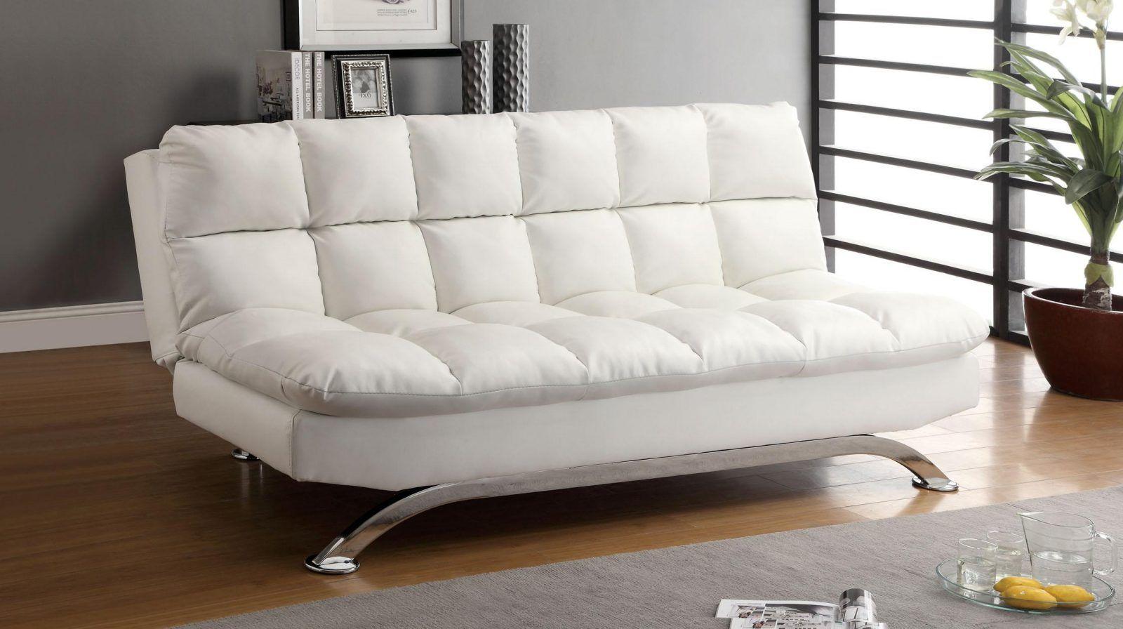 sofa cama barata de diseño blanco