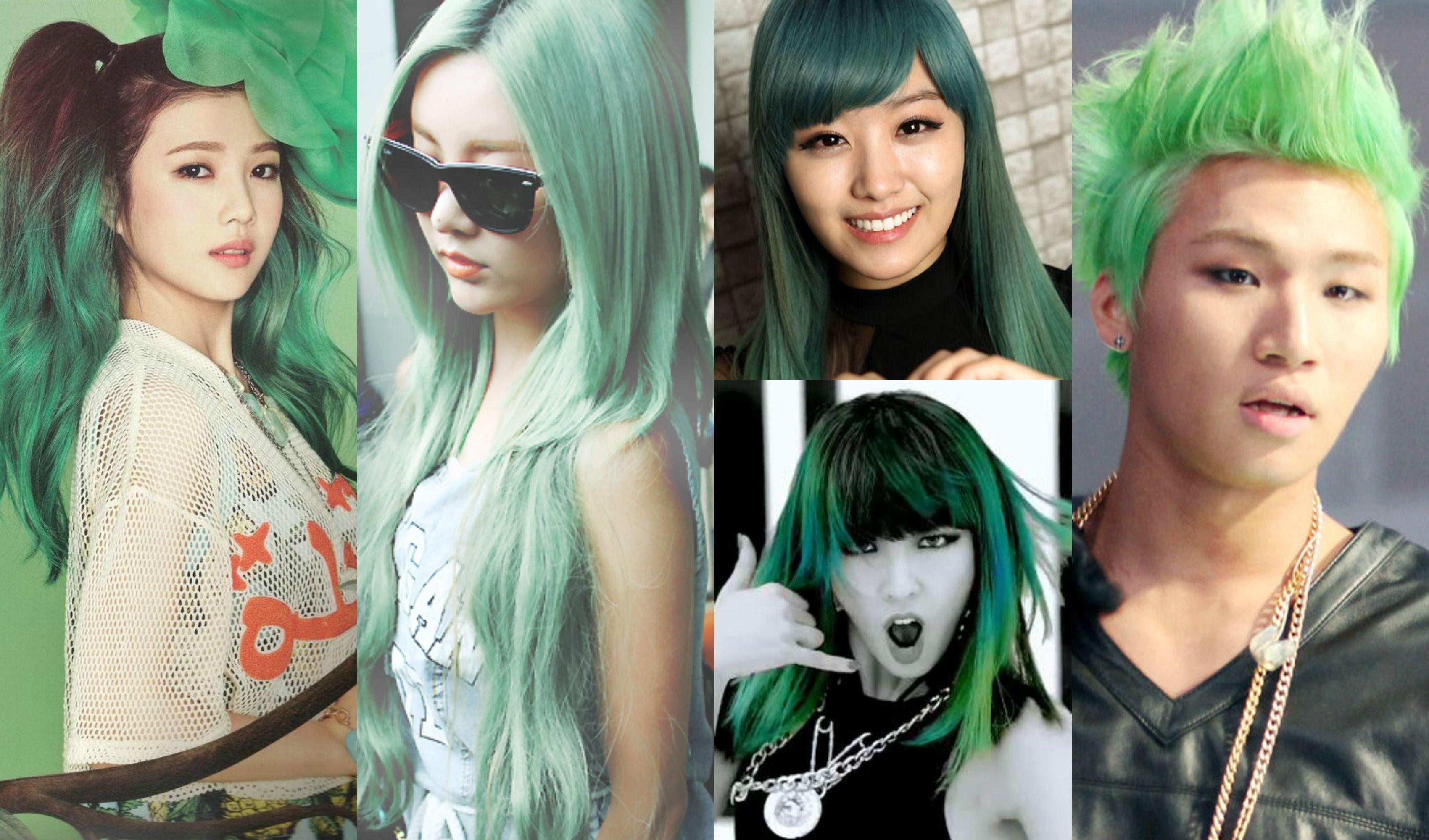 7 Vibrant K Pop Idol Hair Colors That Create A Beautiful Rainbow Hair Color Bright Hair Colors Beautiful Rainbow