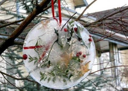 Frozen Sun Catchers (early science) allow children to drop in items of their choice, freeze and then hang outdoors. Talk about what will happen as the sun hits them during the day.