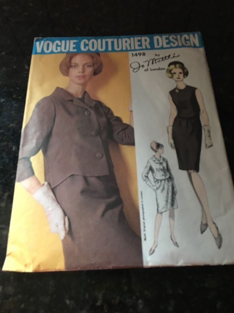 VCD 1498 Jo Matti Of London 1Pc Dress & Jacket Sz12 The dress is a slightly fitted 1pc dress with shaped darts & curved band detail, with slight easing in front.The jacket has similar front dart shaping & curved band detail in back.The jacket also has a shaped notched collar & 3/4 length sleeves. unused end 10.5+3.85 0b 8/8/16