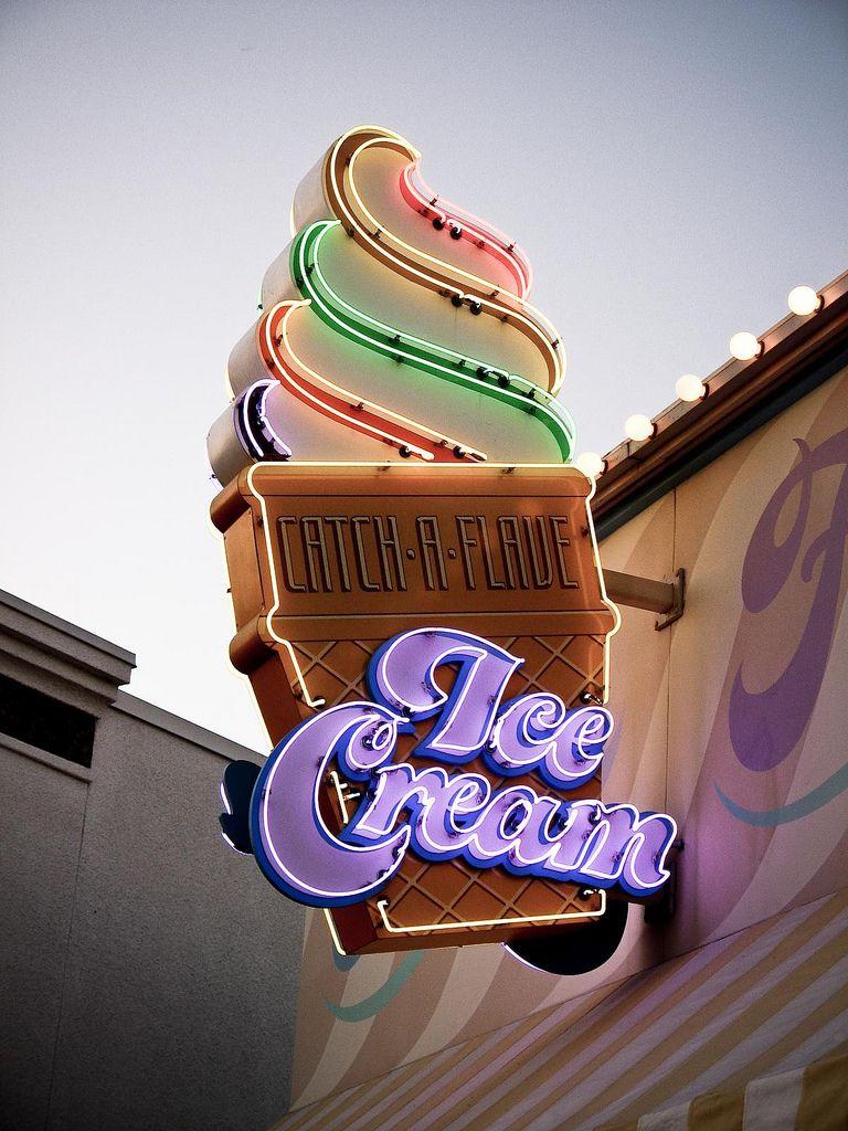 Neon Ice Cream
