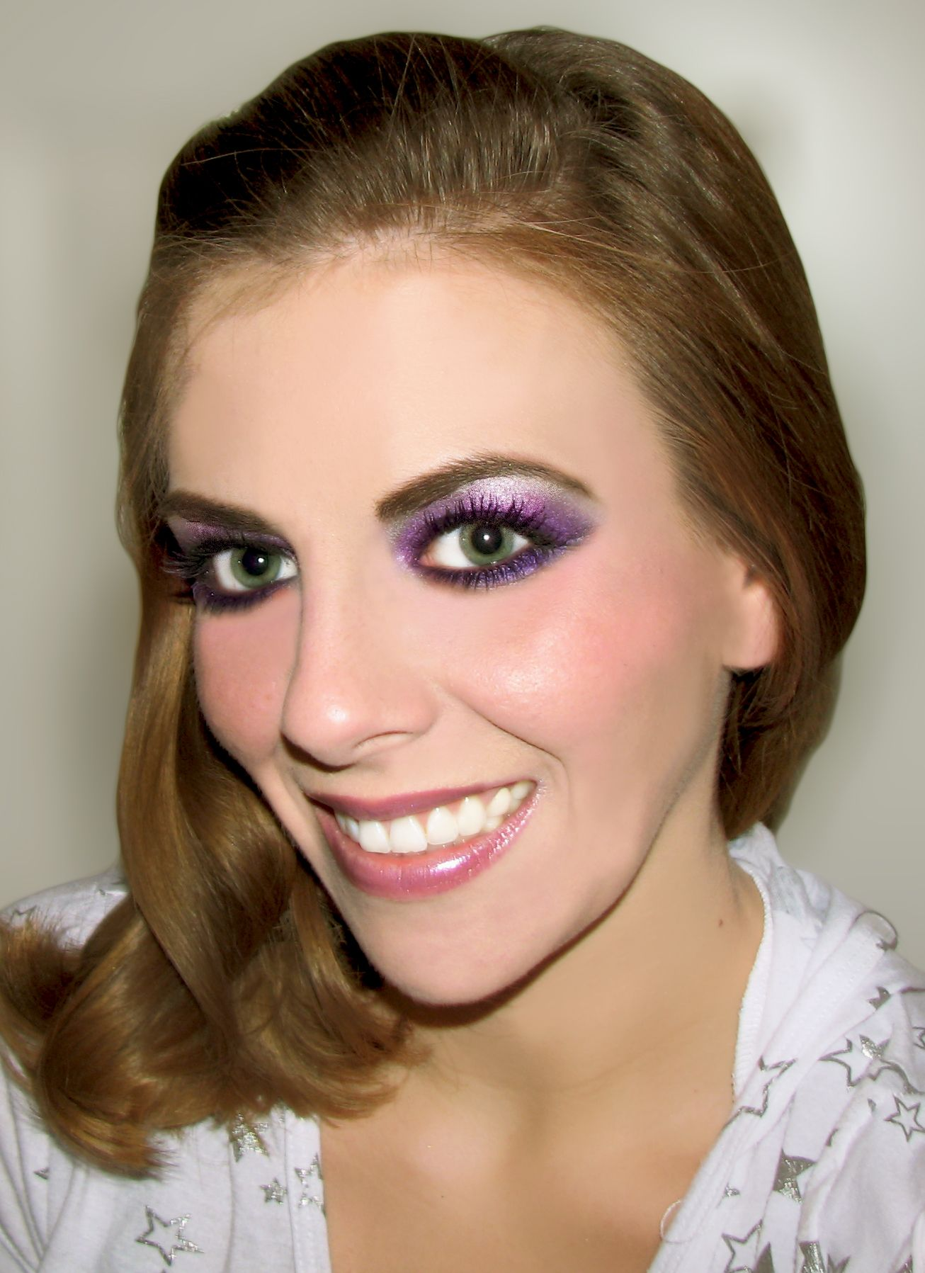 black and white eyeshadow for droopy eyes Purple Black