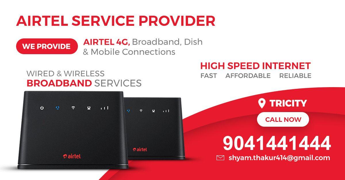 Airtel Service Provider Offers High Speed Internetairtel 4g