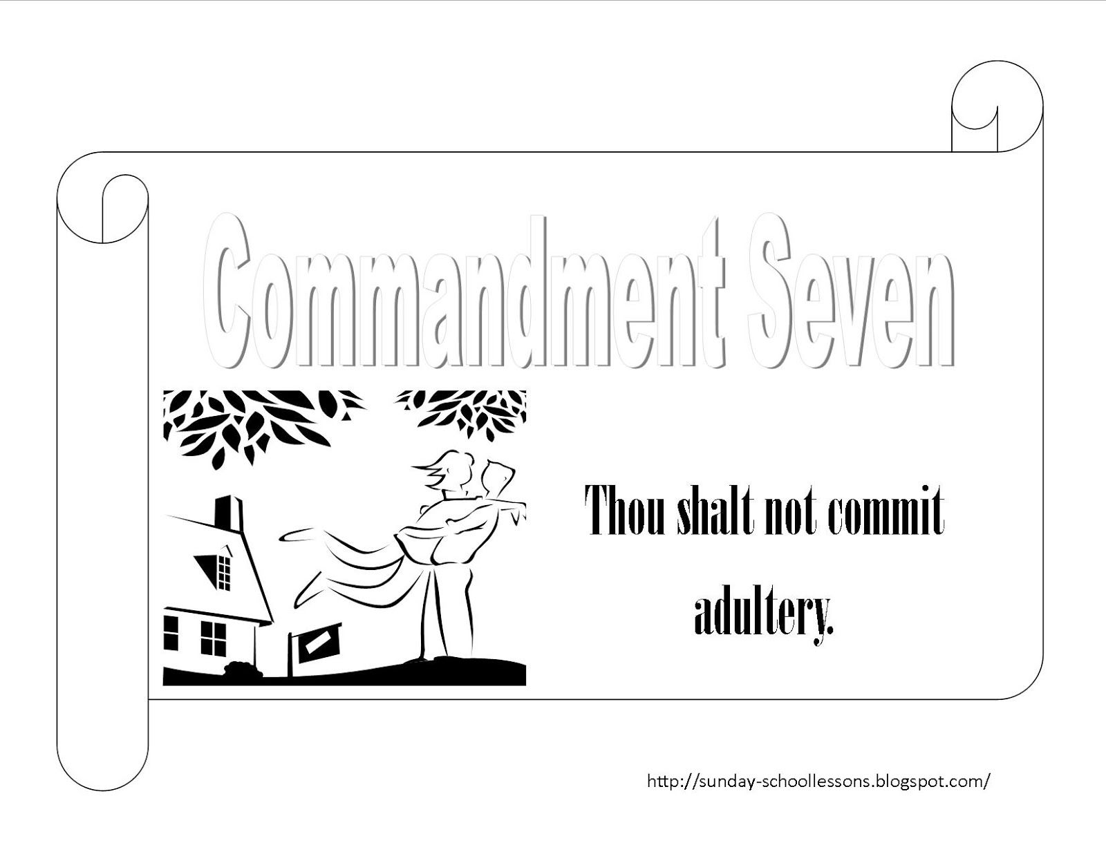 commandment page ten coloring sheets 10 commandments coloring page numbers seven and eight